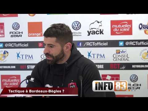 Interview de sébastien Tillous-Borde avant le déplacement du RCT à Bordeaux-Bègles