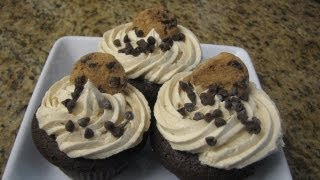 Chocolate Chip Cookie Dough Cupcakes- Lynn's Recipes