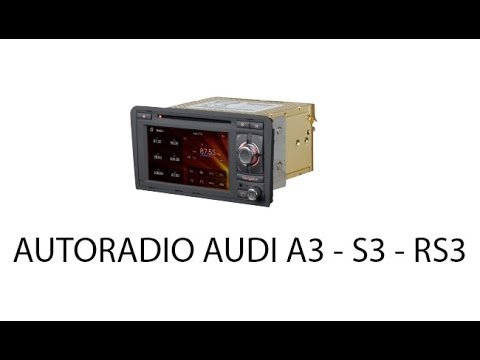 autoradio audi a3 s3 rs3 youtube. Black Bedroom Furniture Sets. Home Design Ideas