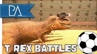 T-REX WITH LAZER BEAMS PLAYING SOCCER!?! - Beast Battle Simulator G...