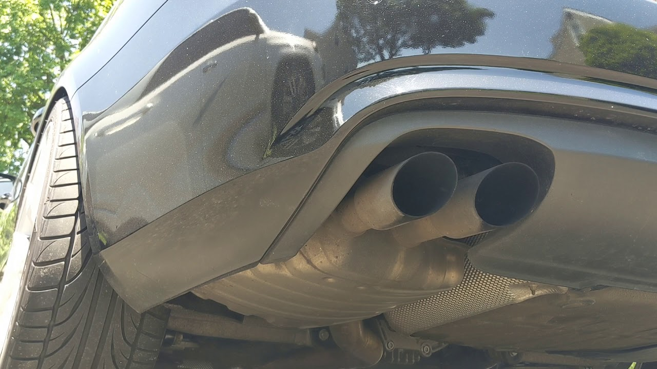 2013 b8 b8 5 audi a4 apr down pipe cold start w suitcase resonater delete and stock muffler