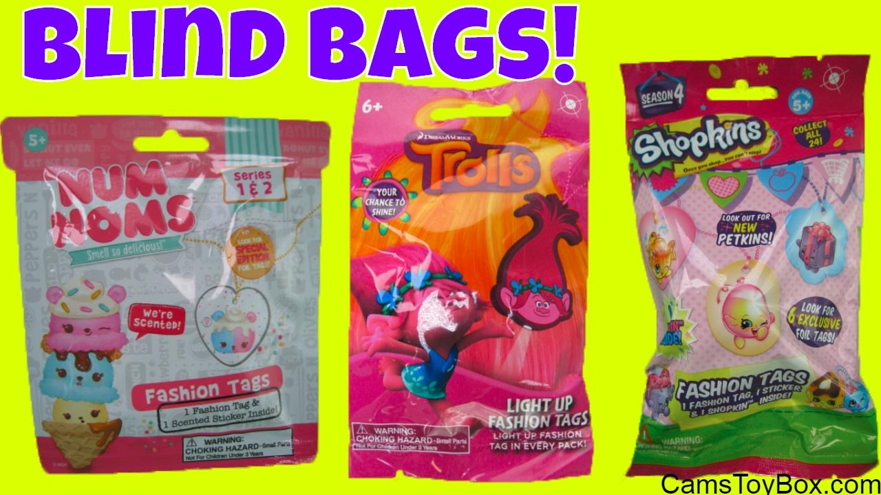 Trolls Light Up Fashion Tags Num Noms Shopkins Blind Bags