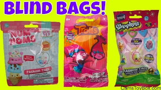 Trolls Light Up Fashion Tags Num Noms Shopkins Blind Bags Bulls I Toy Surprise Toys for Kids Fun