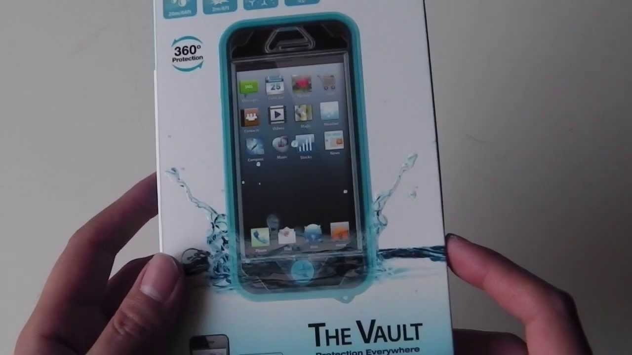 Naztech Vault with Waterproof Cover for iPhone 5/5S/SE ID - Black