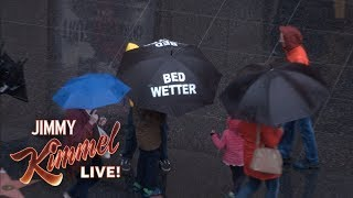 Cousin Sal Pranks LA Pedestrians in the Rain