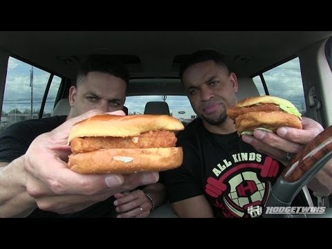 Eating Burger King Spicy Big Fish Sandwich @hodgetwins