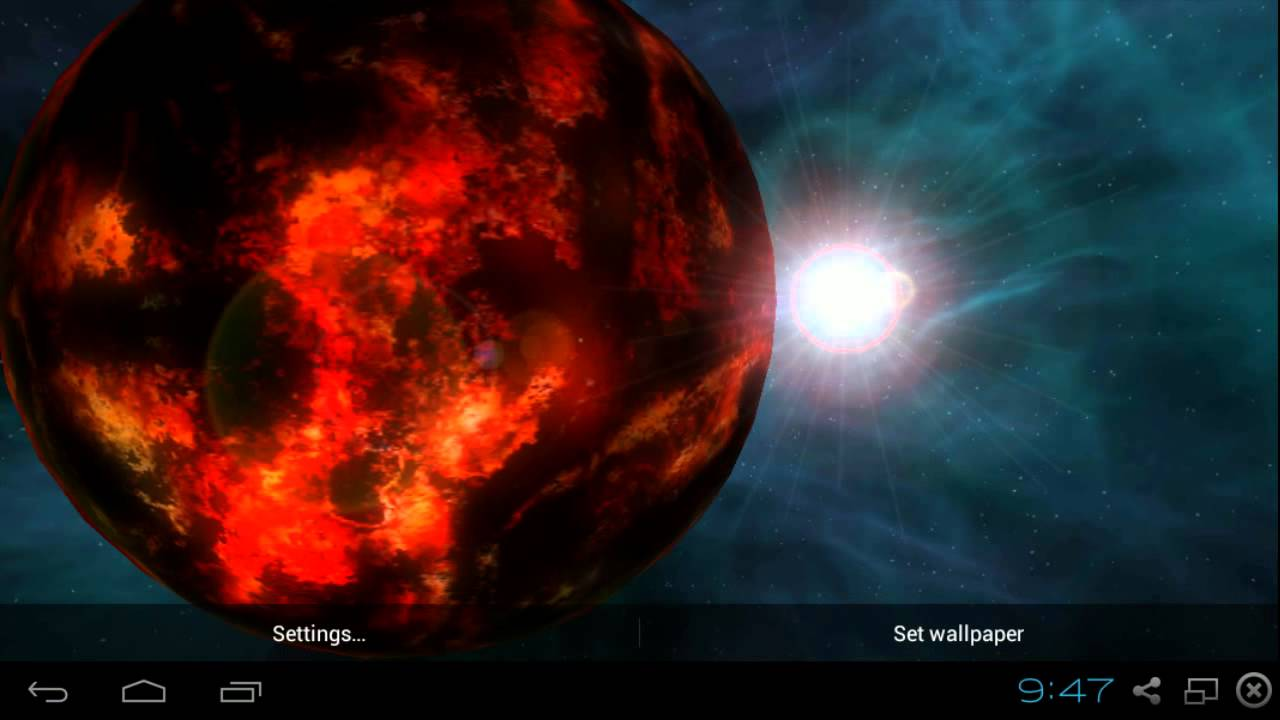 Planets And Galaxy 3D Live Wallpaper