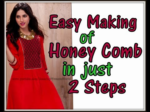 DIY Ideas of Easy making of Honey Comb Pattern on Kurti,Kameez and  DECORATIVE patterns