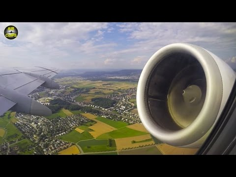 Helvetic Fokker 100 POWERFUL TAKEOFF with scenic Zurich views!!! [AirClips]