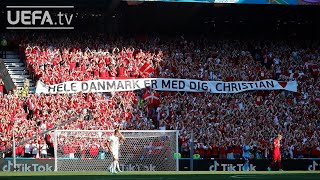Denmark and Belgium tribute to Christian Eriksen   EURO 2020