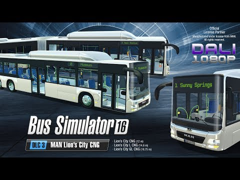 Bus Simulator 16 - MAN Lion's City CNG Pack - GL A40 - Driving the 18.75 meter long Bendy Bus!