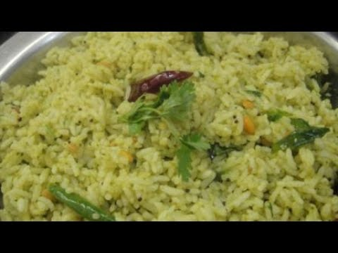 Coriander Lemon Rice In Tamil | Pregnancy Recipe | Lunch Box Recipe | Gowri Samayalarai