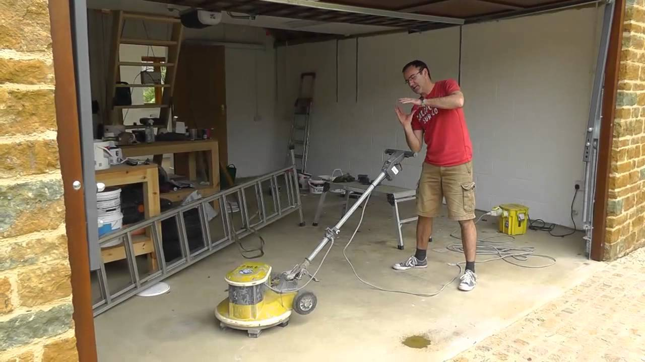 garage floor sander youtube. Black Bedroom Furniture Sets. Home Design Ideas