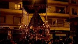 La Virgen de los Dolores del Puente entrando en Álvaro de Bazán. Semana Santa Málaga 2010.