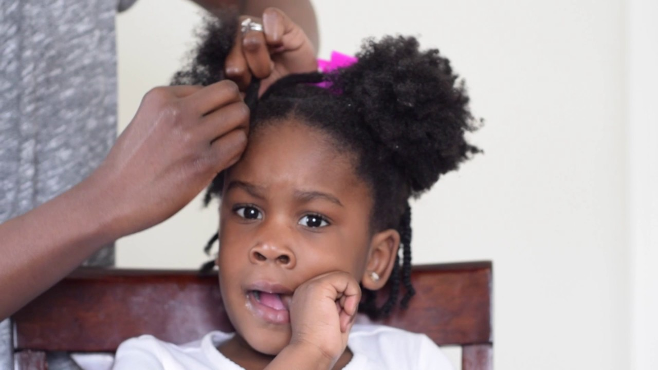 Styling A Toddler S Natural 4c Hair Youtube