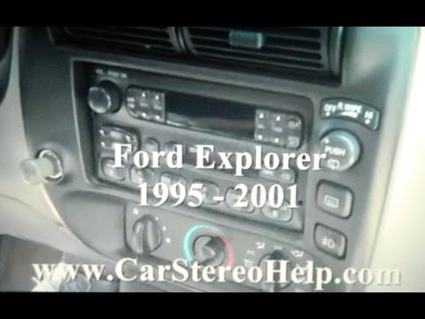 How To Ford How To Explorer Car Stereo Removal 1995 - 2001 Replace Repair  Display Cd Tape