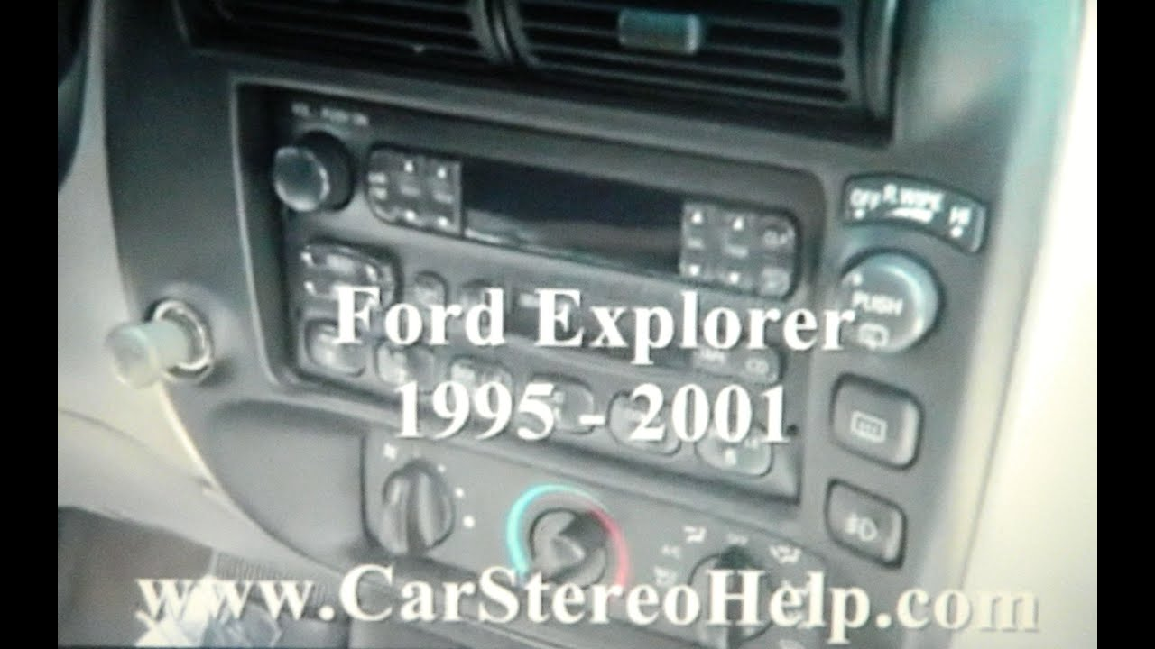 how to ford how to explorer car stereo removal 1995 2001 replace repair display cd tape [ 1280 x 720 Pixel ]