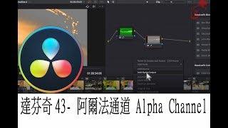 達芬奇教學43- 阿爾法通道 Alpha Channel (a)