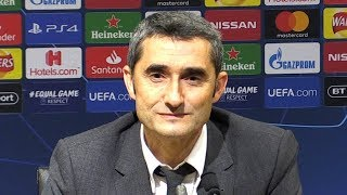 Man Utd 0-1 Barcelona - Ernesto Valverde Post Match Press Conference - Champions League - ENGLISH