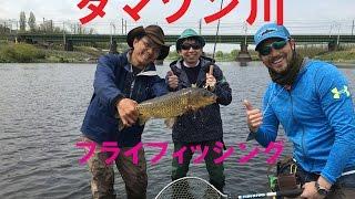 多摩川の釣り タマゾン川のフライフィッシング