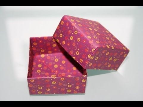 origami geschenkbox youtube. Black Bedroom Furniture Sets. Home Design Ideas