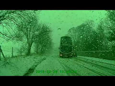 Lothian Buses snow powerslide