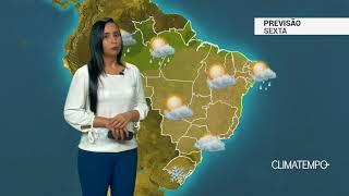 Previsão Brasil – Sexta de ar seco em grande parte do BR