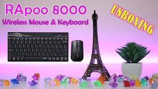 Rapoo 8000 wireless mouse and keyboard combo unboxing