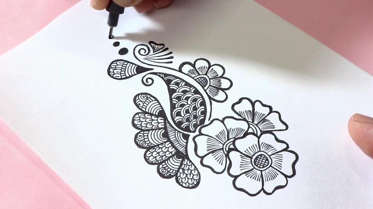 Easy Henna Mehndi DesignDoodle  YouTube