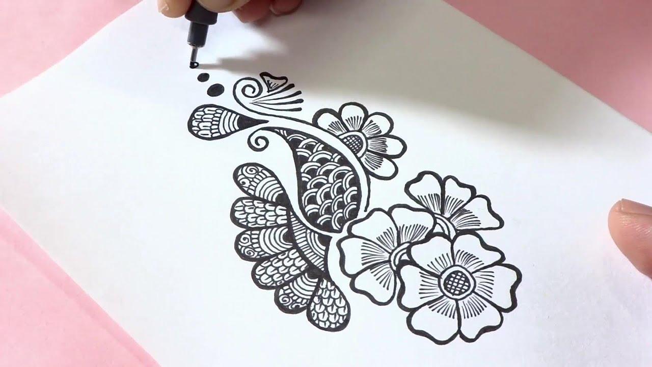 Easy Henna Mehndi Design Doodle Youtube