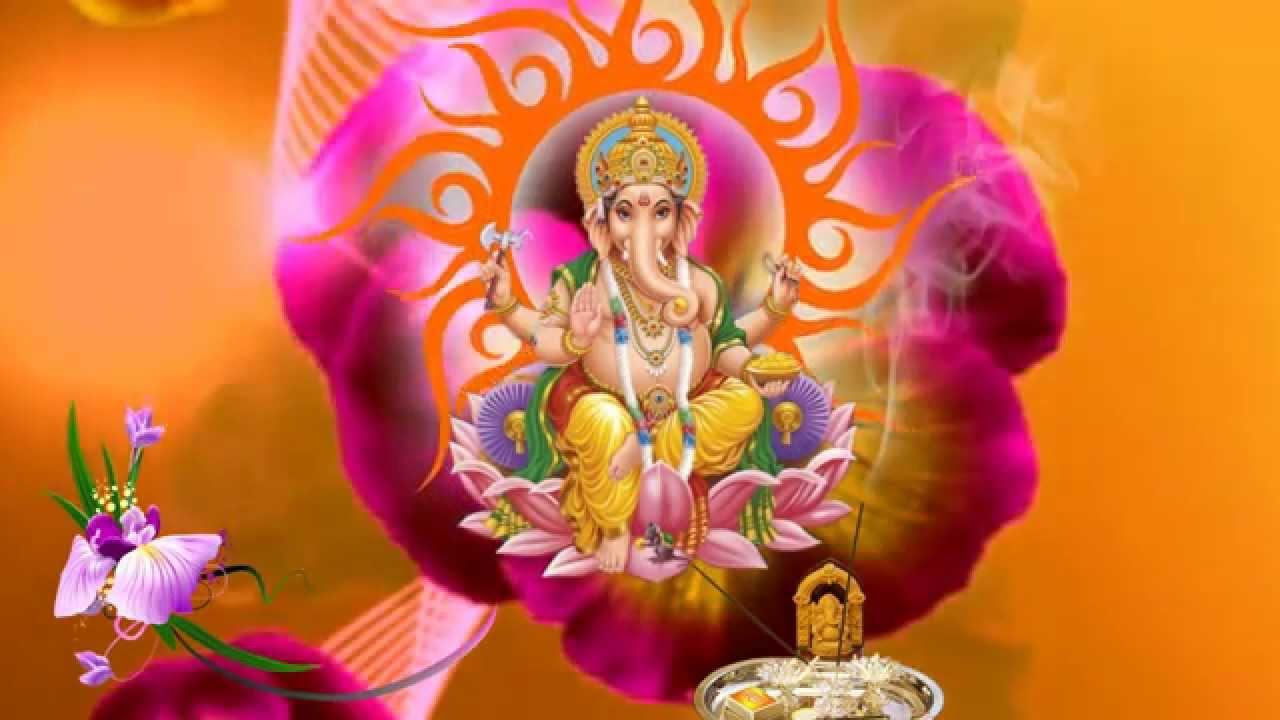 Hd Lord Ganesh Background Animated Video Free Downloads Youtube