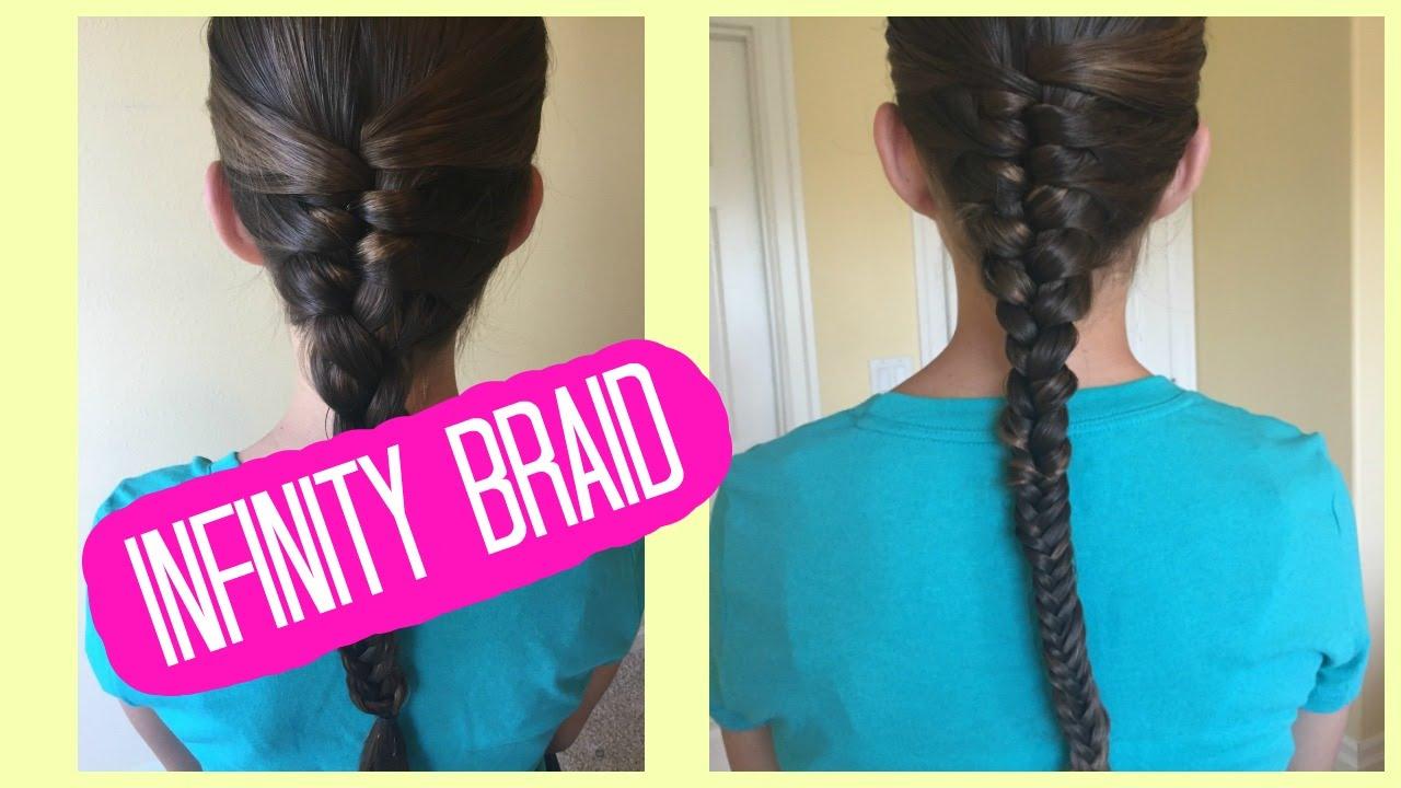 how to do an infinity braid - youtube