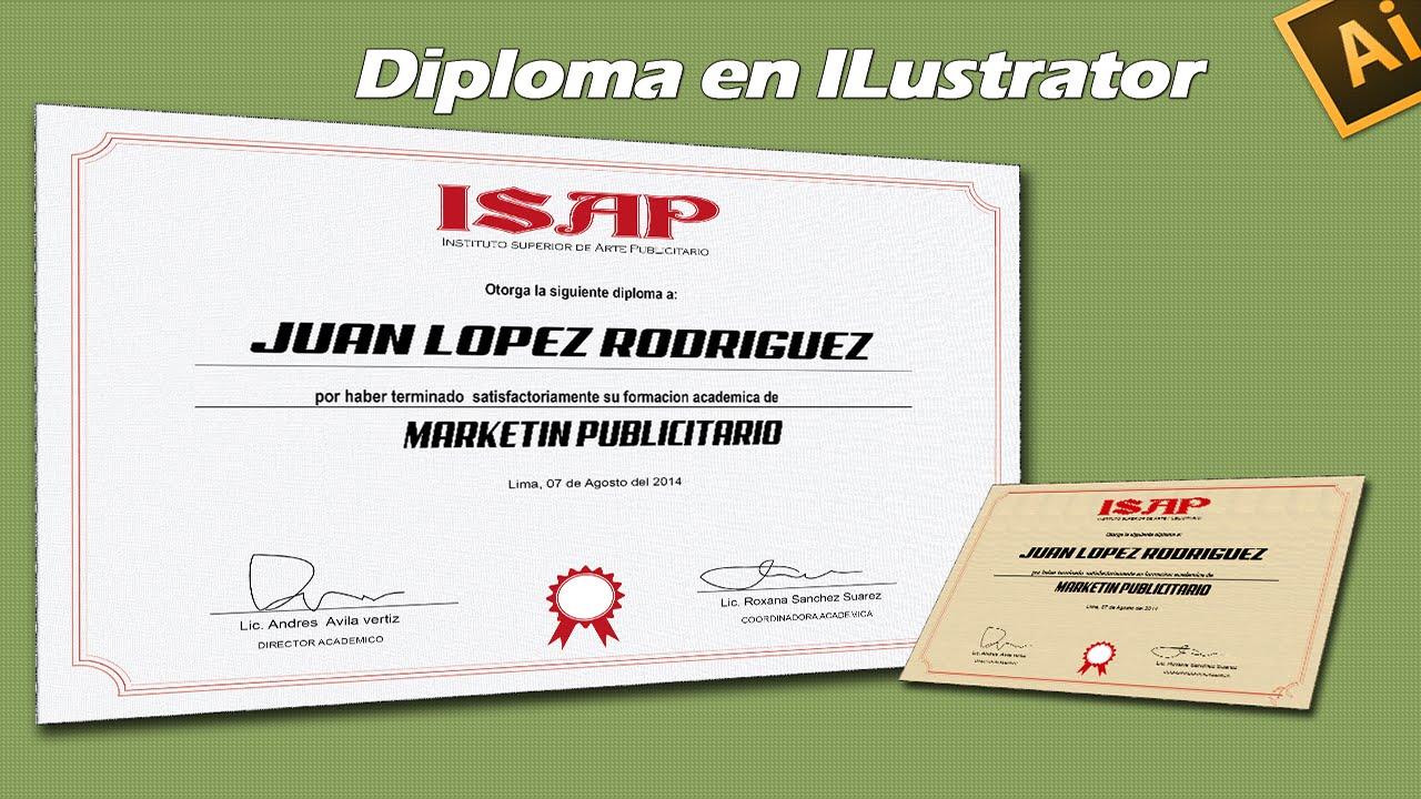 crear un certificado o diploma en ilustrator