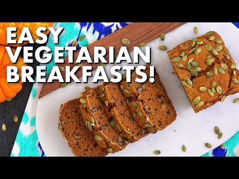 Quick and Easy Vegetarian Breakfasts! | 5 Healthy Breakfast Ideas thumbnail