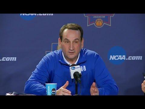 Coach K Chides ESPN Reporter