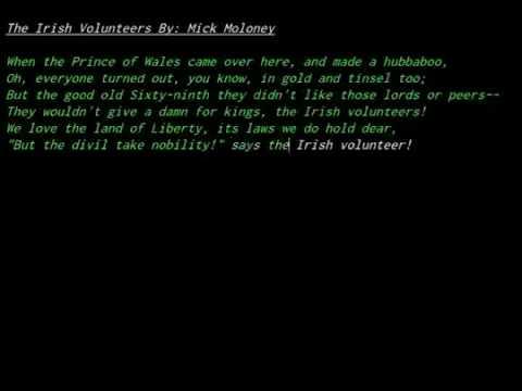 Mich Moloney - far from the shamrock shore - The Irish Volunteers