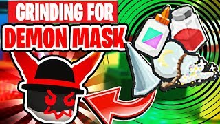 Helping My Girlfriend Grind For THE DEMON MASK In Roblox Bee Swarm Simulator