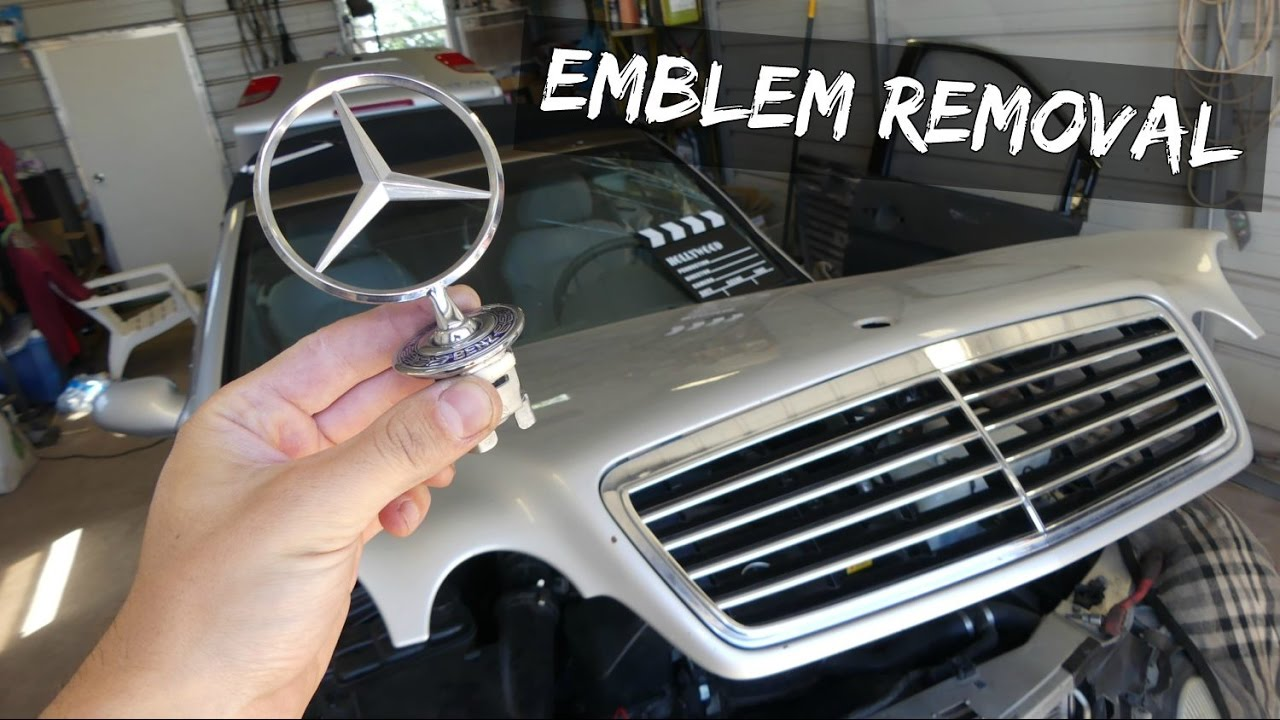 Mercedes hood emblem removal replacement w210 clk w208 c for Mercedes benz badges for sale
