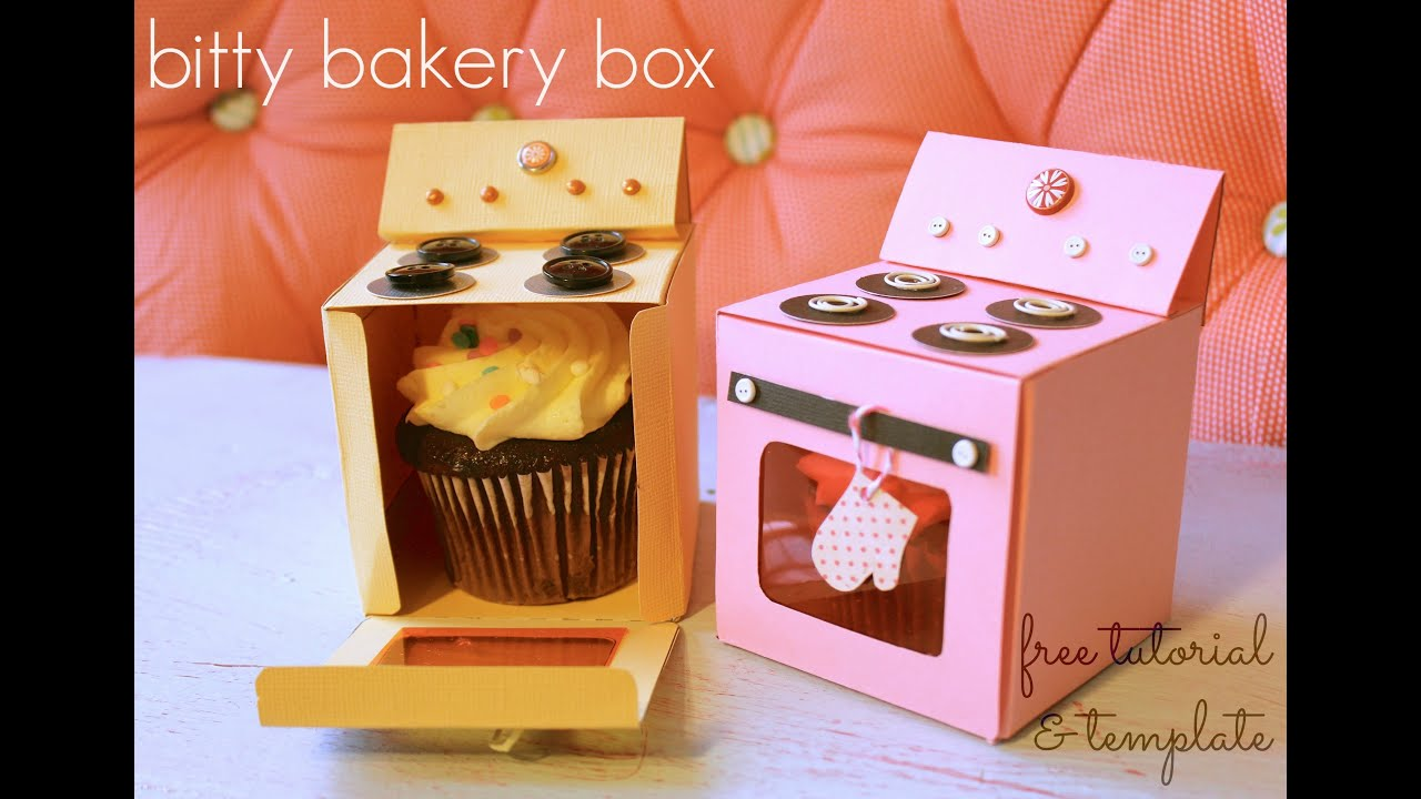 Bitty Bakery Cupcake Box (FREE template!) - YouTube