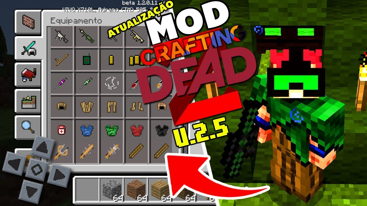 Crafting Dead Mod For Minecraft Pe