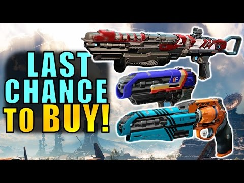Destiny: LAST CHANCE TO BUY Best Vendor Guns before Age of Triumph!