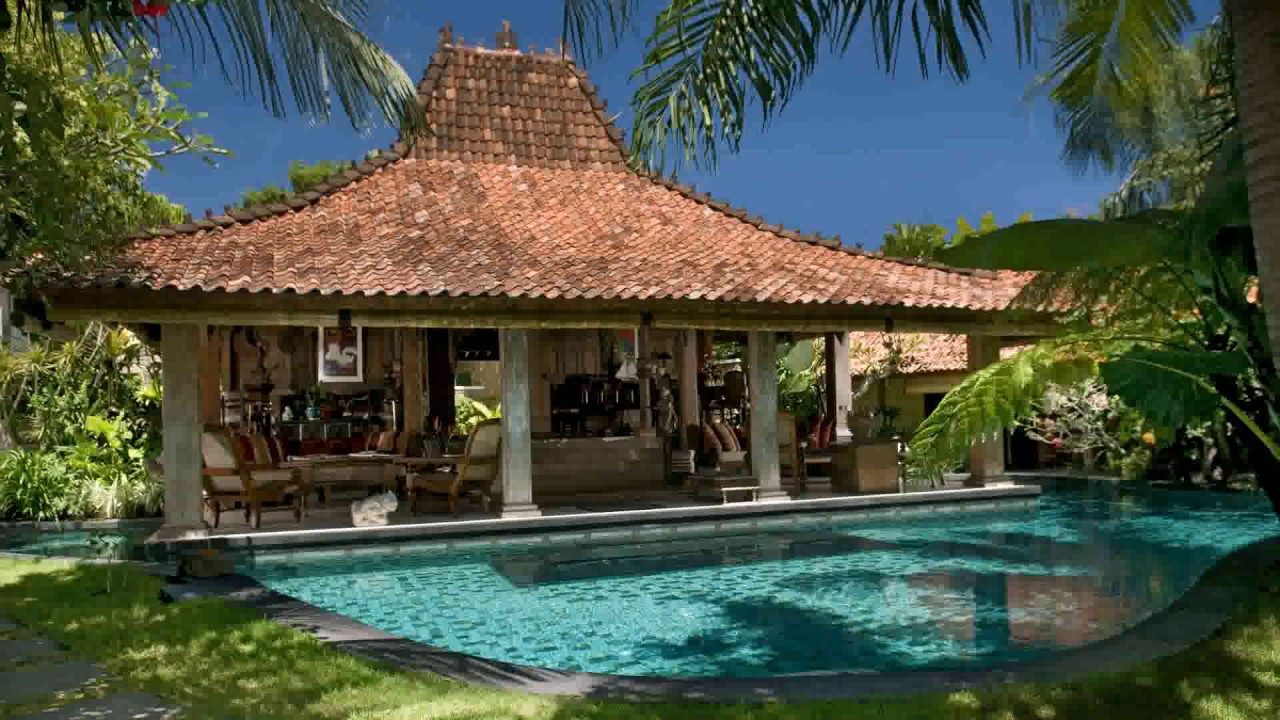 Bali style villa house plans youtube for Balinese style home designs