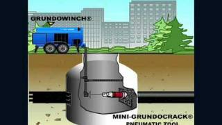 Grundocrack Manhole Exit - Pneumatic Pipe Bursting