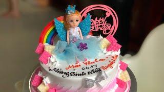 Làm Bánh Kem Váy Búp Bê Đơn Giản #2 - How to make barbie doll cake