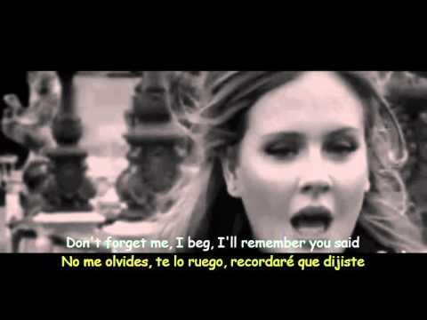 Adele - Someone Like You (Lyrics & Sub Español) Official Video