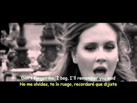 Adele  Someone Like You Lyrics & Sub Español