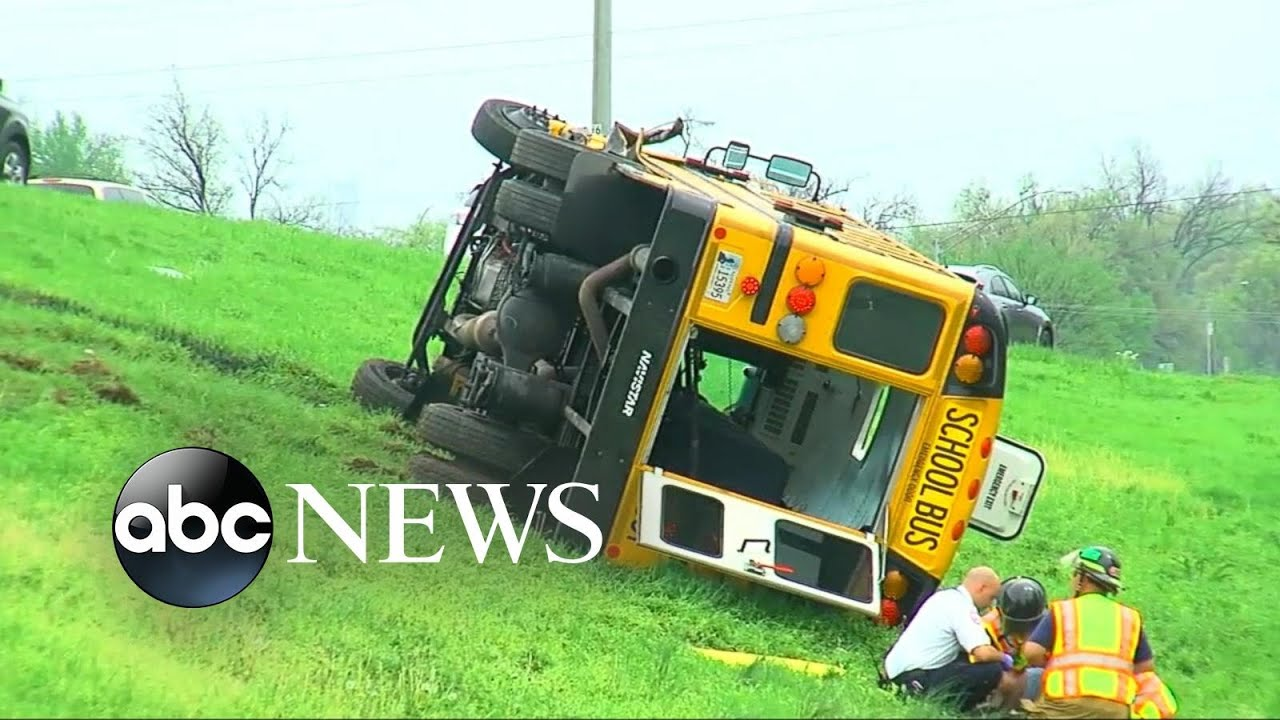 Students Fly As School Bus Flips [Caught on Tape]
