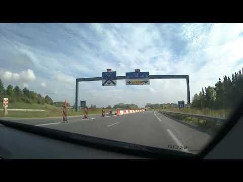 Dash Cam Driving From Disneyland Paris To Davy Crockett Ranch, France