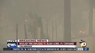 Woolsey Fire chews through Calabasas homes