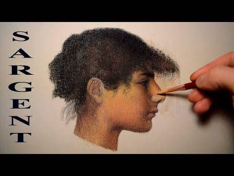 THE OLD MASTERS FOR BEGINNERS. TUTORIAL HOW TO DRAW PORTRAITS LIKE JOHN S. SARGENT